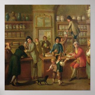 Interior de una farmacia posters