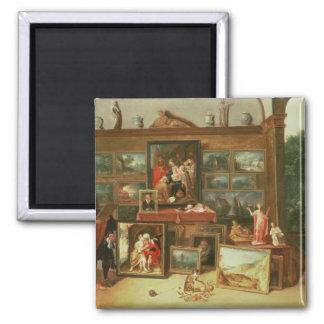 Interior de una galería de imágenes imán de frigorifico