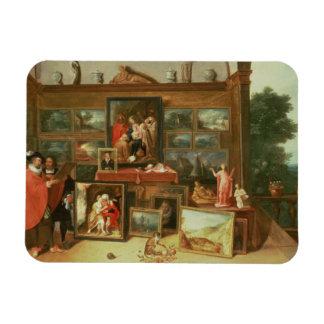 Interior de una galería de imágenes imanes rectangulares