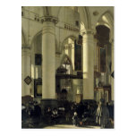 Interior de una iglesia tarjetas postales