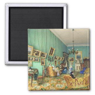 Interior de una sala de estar, 1847 imán cuadrado