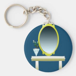 Interior Decor Basic Round Button Keychain