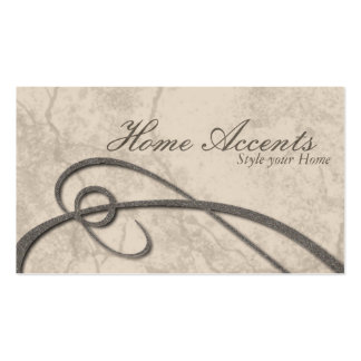 Interior Decorating Aged Beige Brown Business Card