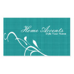 Interior Decorating Black and White Business Card