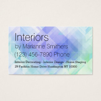 Interior Decorating Business Card