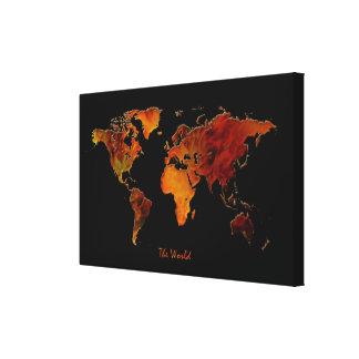 Interior Decorating New World Map Art Print
