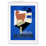 Interior Decoration 1940 WPA Card
