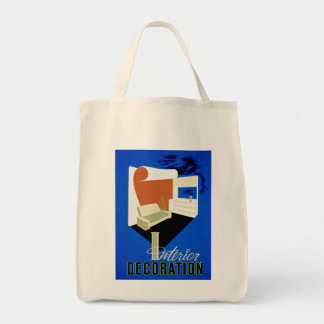 Interior Decoration Grocery Tote Bag