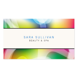 Interior Decorator Business Card Colorful Swirls