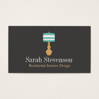 Interior Decorator Lamp Designer Business Card