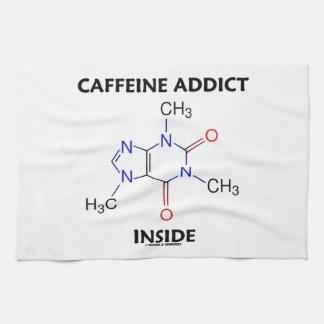 Interior del adicto a cafeína (molécula del toalla de cocina