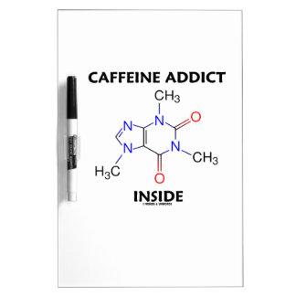 Interior del adicto a cafeína (molécula del pizarras