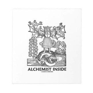 Interior del alquimista (alquimia medieval) libreta para notas