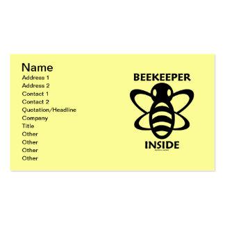 Interior del apicultor (dibujo blanco negro de la tarjetas de visita