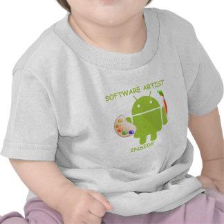 Interior del artista del software (paleta del cepi camisetas