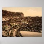 Interior del Colosseum, Roma, Italia Impresiones