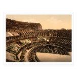 Interior del Colosseum, Roma, Italia Tarjeta Postal