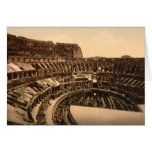 Interior del Colosseum, Roma, Italia Tarjetón