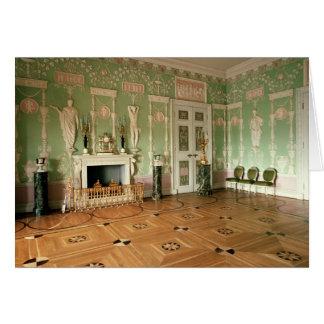 Interior del comedor verde tarjeta de felicitación