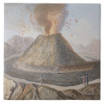 Interior del cono de Vesuvio antes de la E 1767 Azulejos Ceramicos