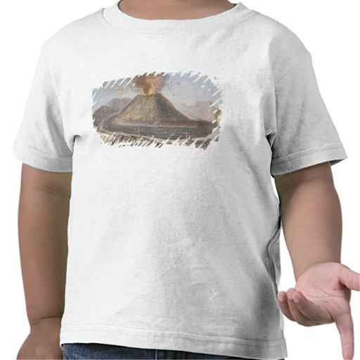 Interior del cono de Vesuvio antes de la E 1767 Camiseta