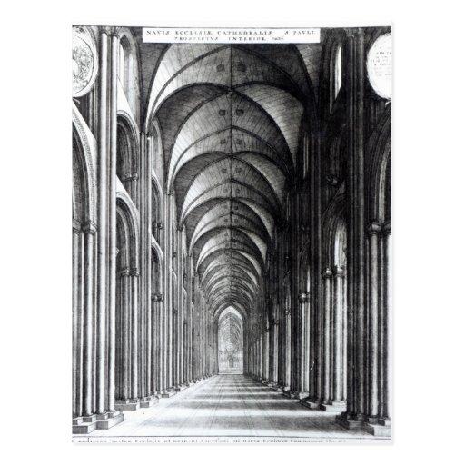 Interior del cubo de San Pablo, 1658 Tarjeta Postal