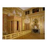 Interior del dormitorio de Louis XIV, 1701-23 Postal