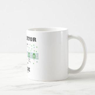 Interior del facilitador (difusión facilitada) taza de café