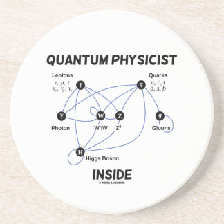 Interior del físico de Quantum (bosón de Higgs del Posavasos Cerveza