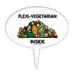 Interior del Flexi-Vegetariano (pila de verduras) Palillos De Tarta