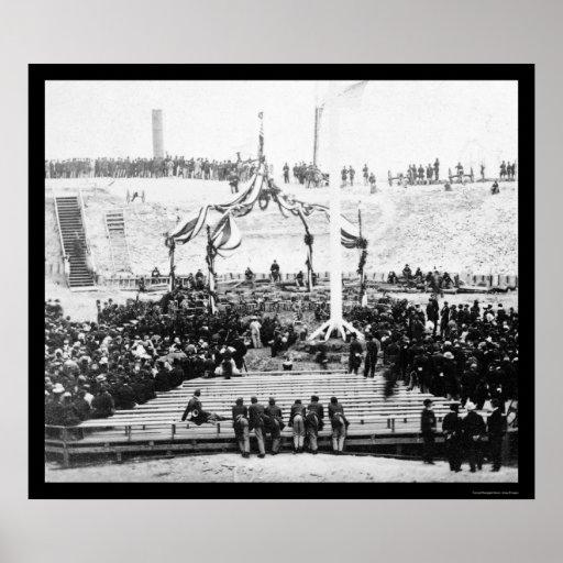 Interior del fuerte Sumter en el puerto 1865 de Ch Poster