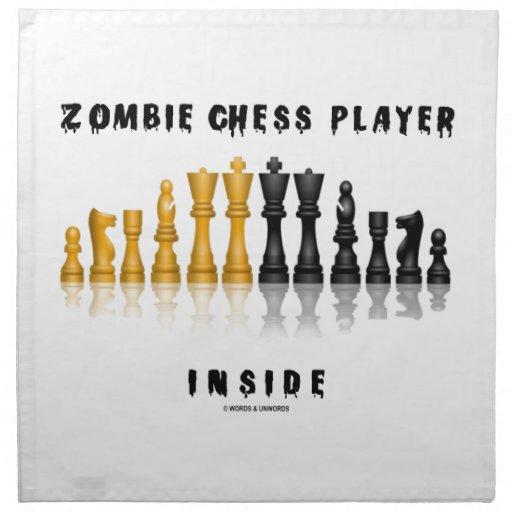 Interior del jugador de ajedrez del zombi (juego d servilletas
