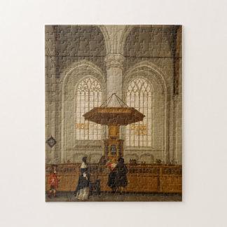 Interior del Laurenskerk en Rotterdam, 1662 Puzzles Con Fotos