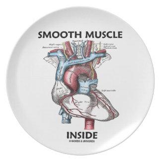 Interior del músculo liso (corazón de la anatomía  plato de comida