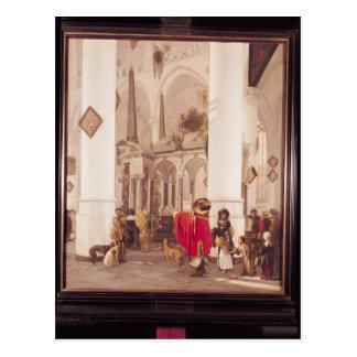 Interior del Nieuwe Kerk, Delft, 1656 Tarjeta Postal