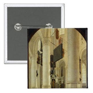 Interior del Nieuwe Kerk Pin Cuadrada 5 Cm