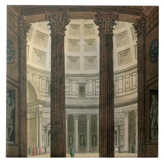 Interior del panteón, Roma, de 'Le Costume A Azulejo Cuadrado Grande