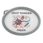 Interior del pensador profundo (neurona/sinapsis) hebilla de cinturón oval