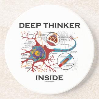 Interior del pensador profundo sinapsis de la neu posavasos cerveza