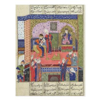 Interior del rey del palacio de Persia Tarjetas Postales