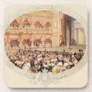 Interior del su teatro de la majestad, cierre del  posavaso