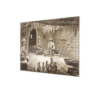 Interior del taller de un alfarero, del volumen II Impresion De Lienzo