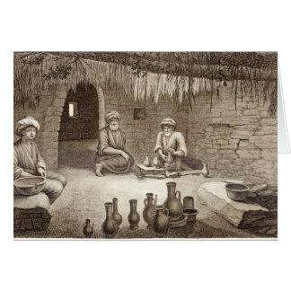 Interior del taller de un alfarero, del volumen II Tarjeta De Felicitación