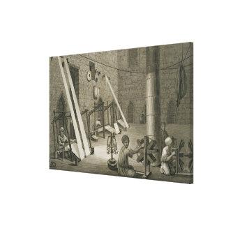 Interior del taller de un tejedor, del volumen II  Impresiones De Lienzo