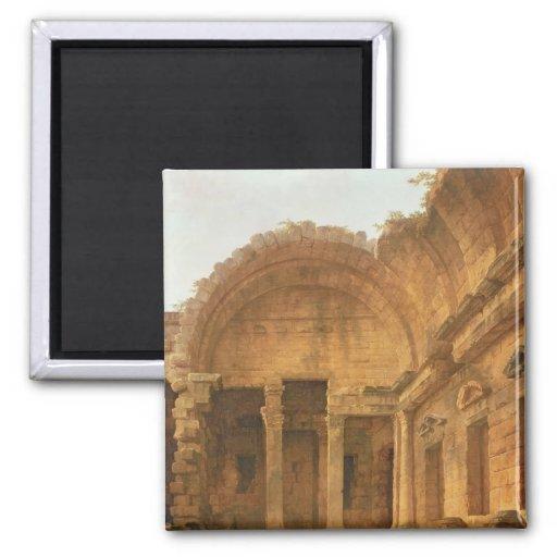 Interior del templo de Diana en Nimes, 1787 Imán Para Frigorifico