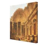 Interior del templo de Diana en Nimes, 1787 Impresiones En Lona Estiradas