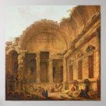 Interior del templo de Diana en Nimes, 1787 Impresiones