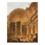 Interior del templo de Diana en Nimes, 1787 Postal