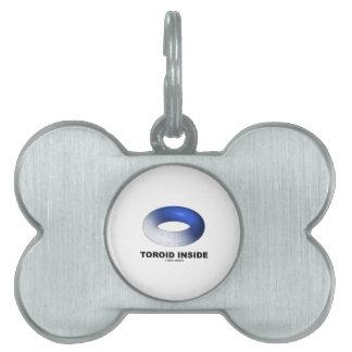 Interior del toroide (toro azul) placa de mascota