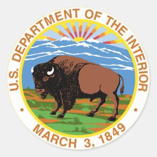 Interior Department Classic Round Sticker